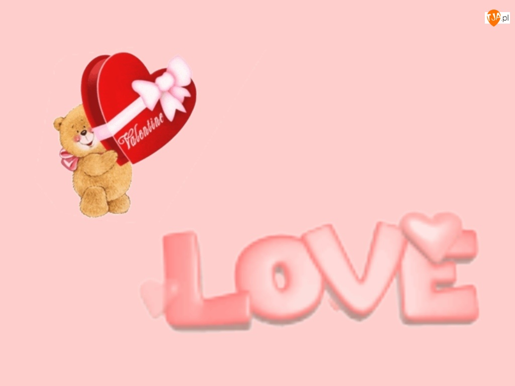 Miś, Love, Serduszko, Walentynki