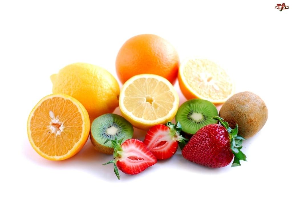 Cytryny, Truskawki, Kiwi, Połówka, Pomarańcze