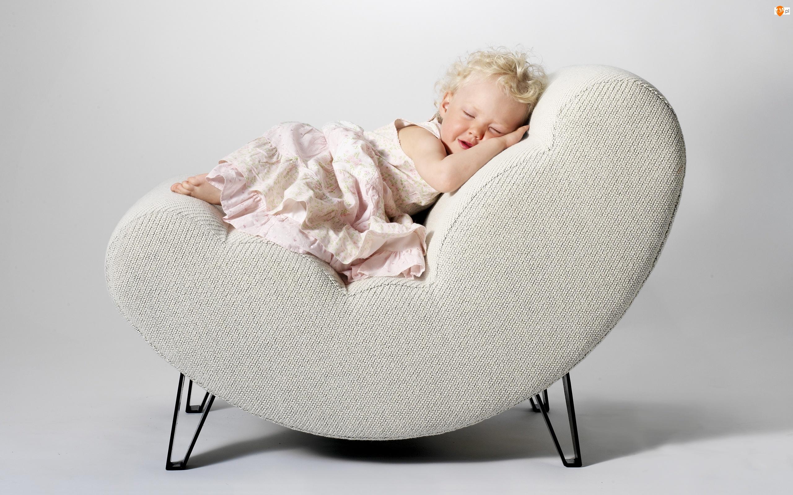 Fotel, Dziewczynka, Dziecko