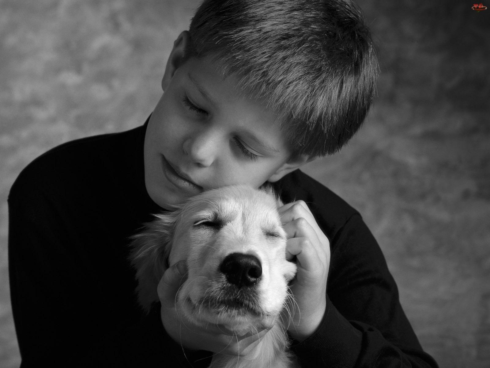 Fotografia, Miłość, Chłopiec, Pies, Dziecko