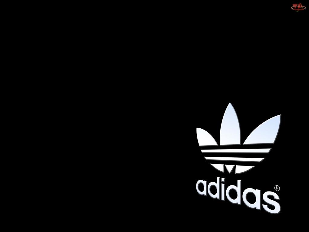 Tło, Białe, Adidas, Logo, Czarne