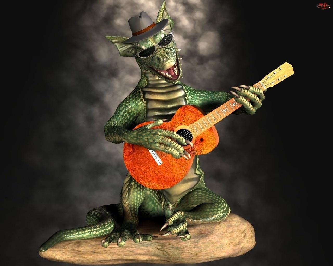 Gitara, Smok, Kapelusz