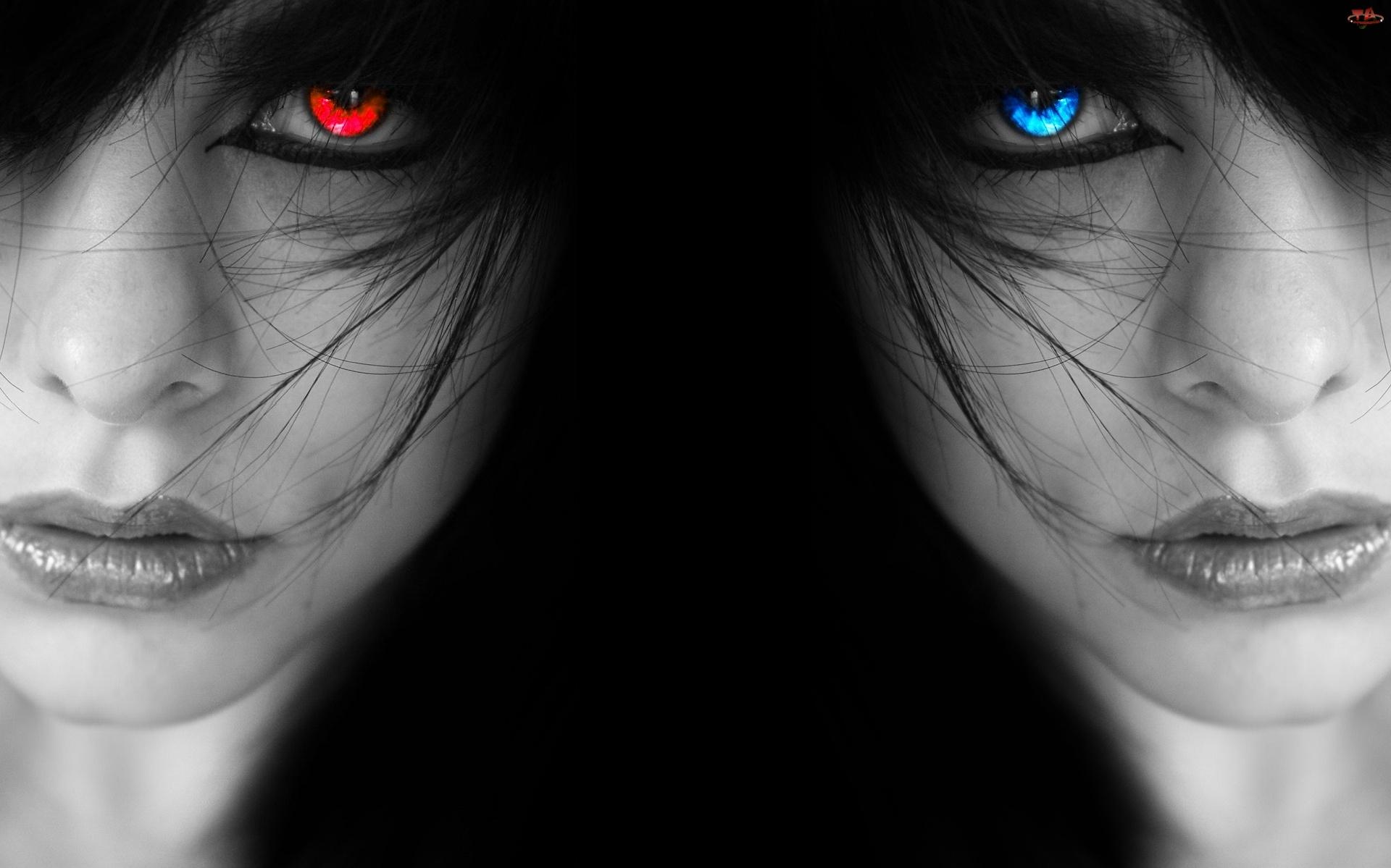 Oczy, Kobiety, Kolorowe