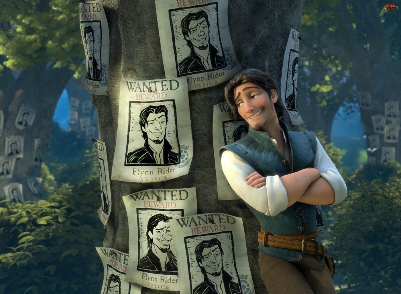 Plakaty, Tangled, Drzewo, Flynn, Zaplątani