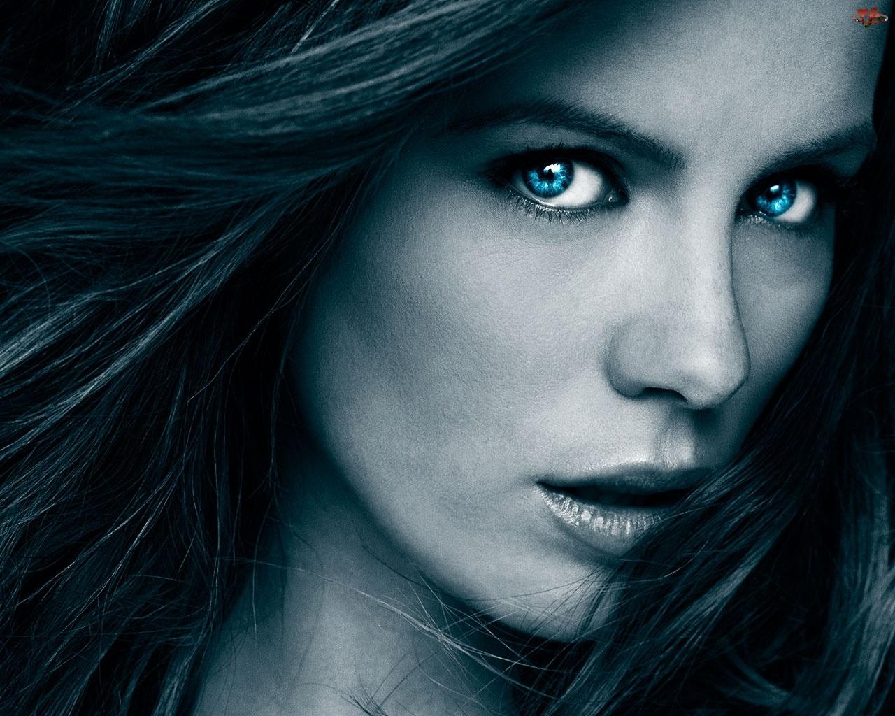 Kobieta, Oczy, Twarz, Niebieskie