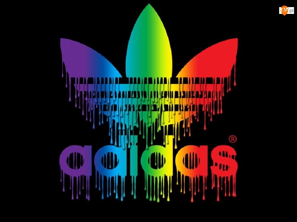 Kolorowe, Adidas, Kapiące, Logo