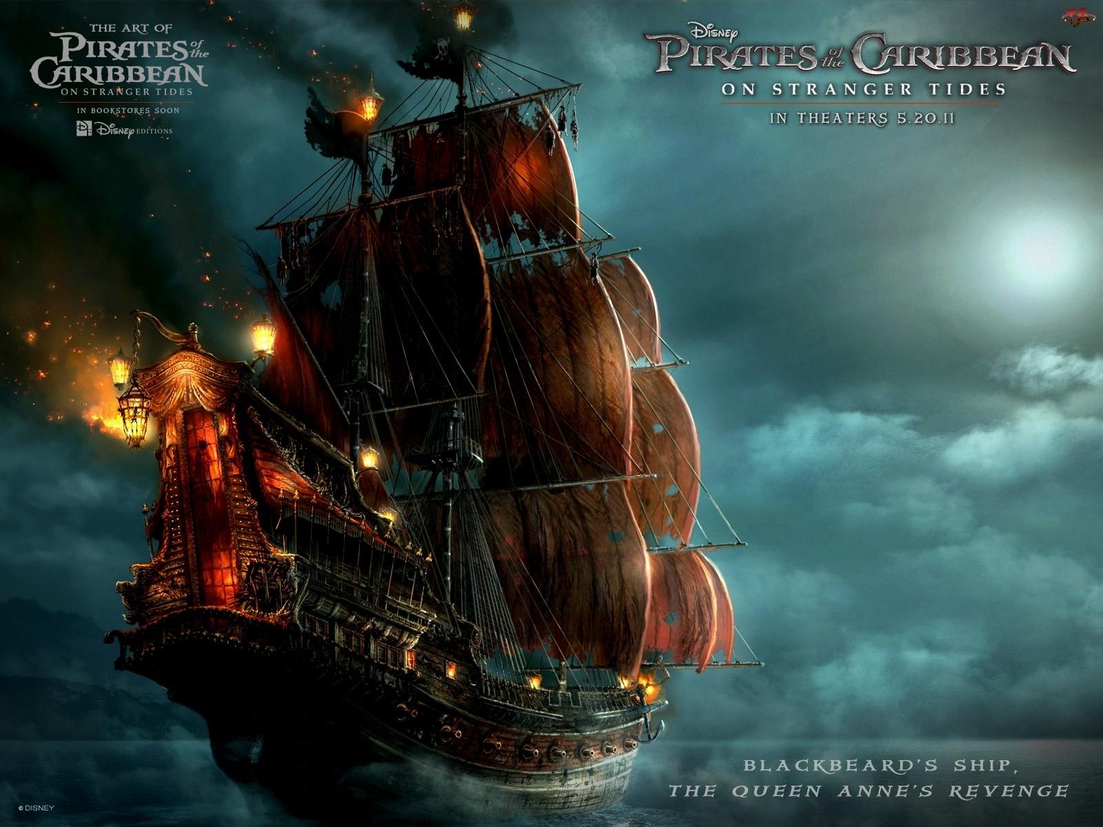 Czarnobrodego, Piraci z Karaibów, Statek