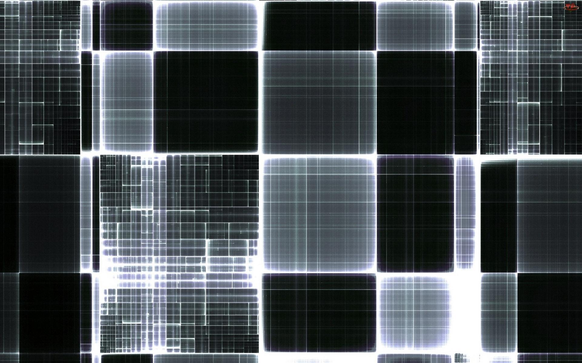 Mozaika, Czarno, Biała