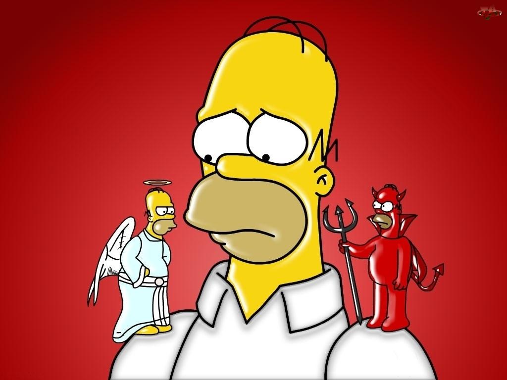 Diabeł, Homer, Anioł