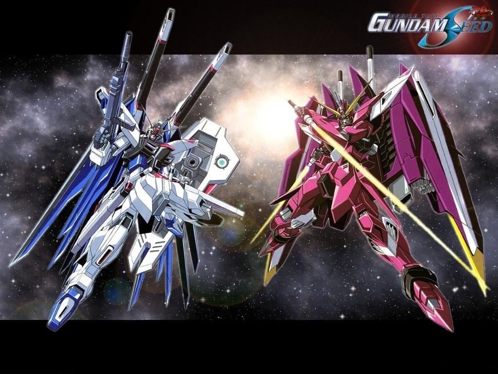 roboty, Gundam Seed, logo, napis, kosmos