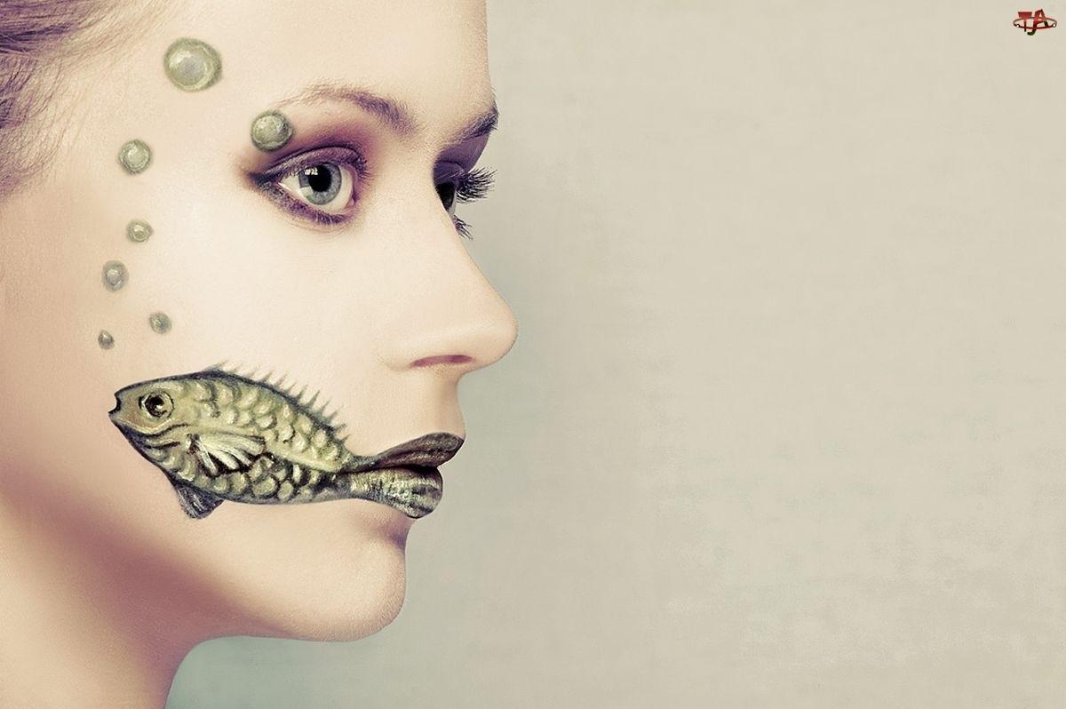 Ryba, Kobieta, Twarz