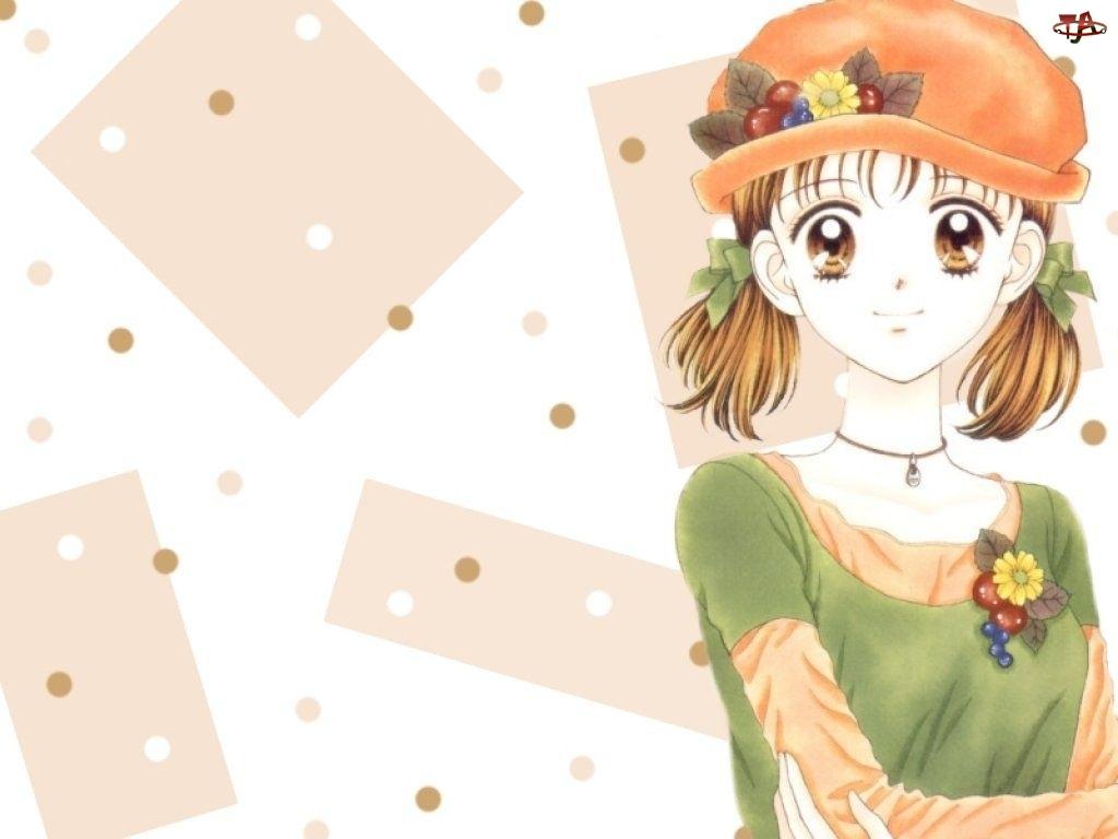 oczy, Marmalade Boy, kapelusz, kobieta