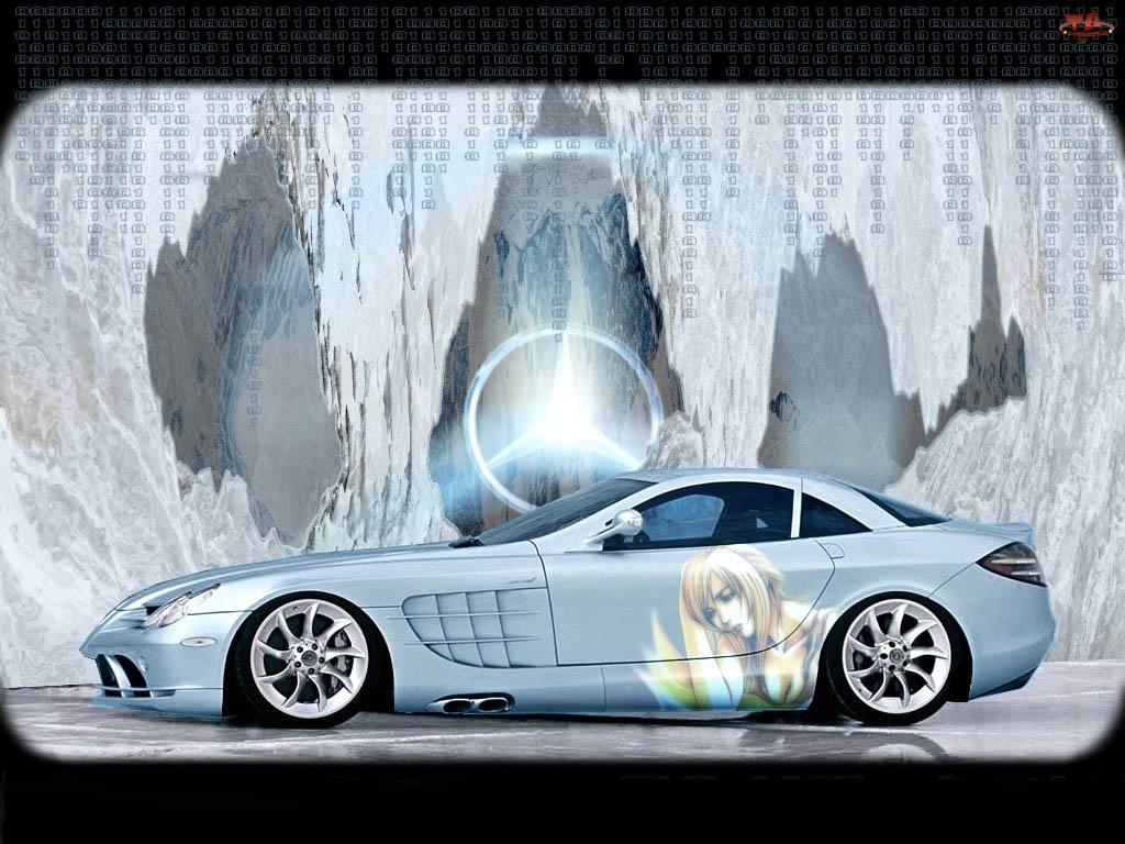 Błękitny, Mercedes SLR