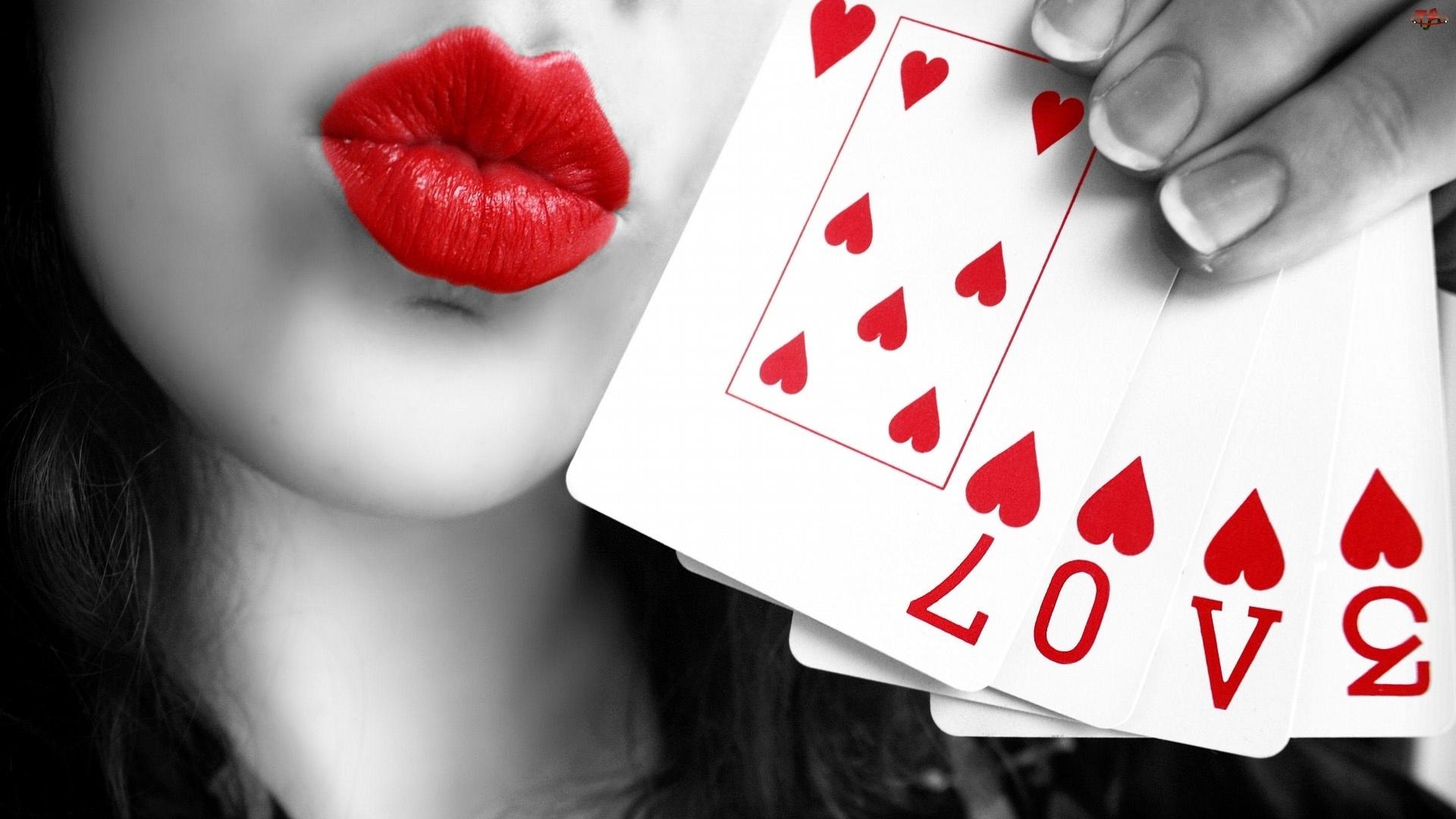 Karty, Love, Usta, Twarz