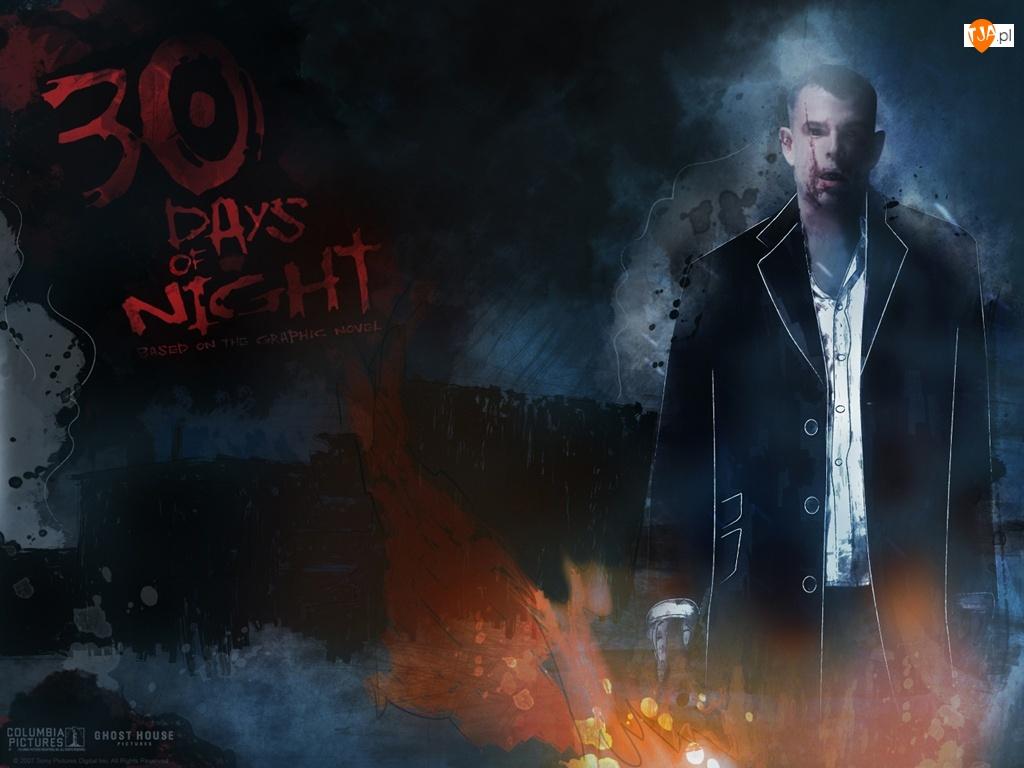 30 Days Of Night, płaszcz, mężczyzna, rysunek
