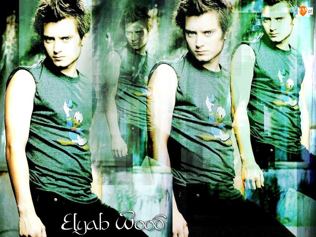 czarne spodnie, Elijah Wood, jasne włosy