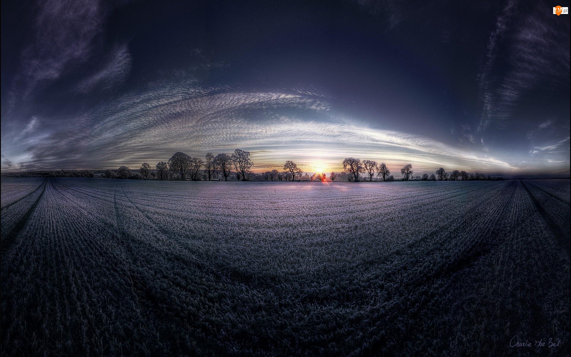 Pole, Zachód, Słońca