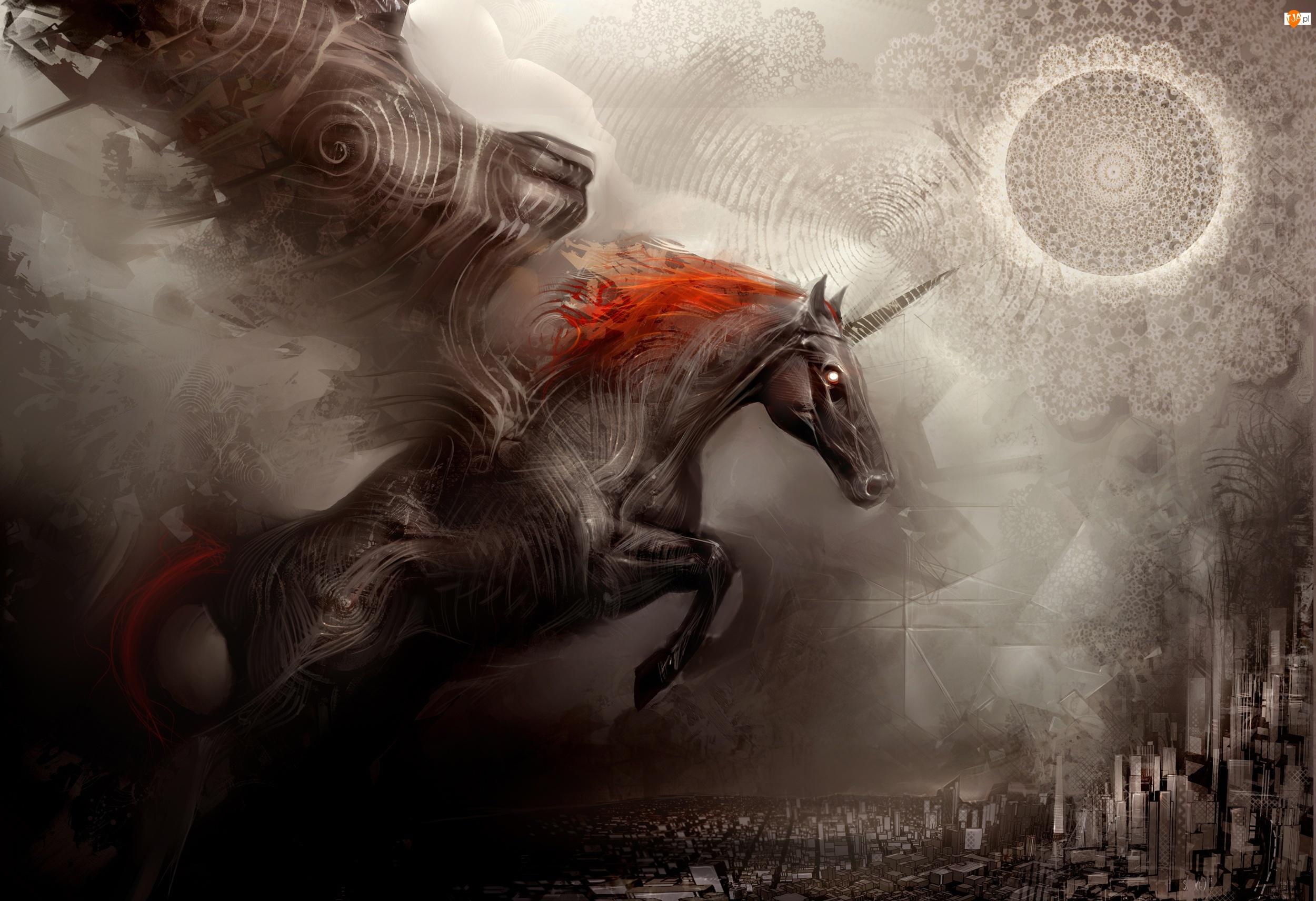Grzywa, Koń, Skok