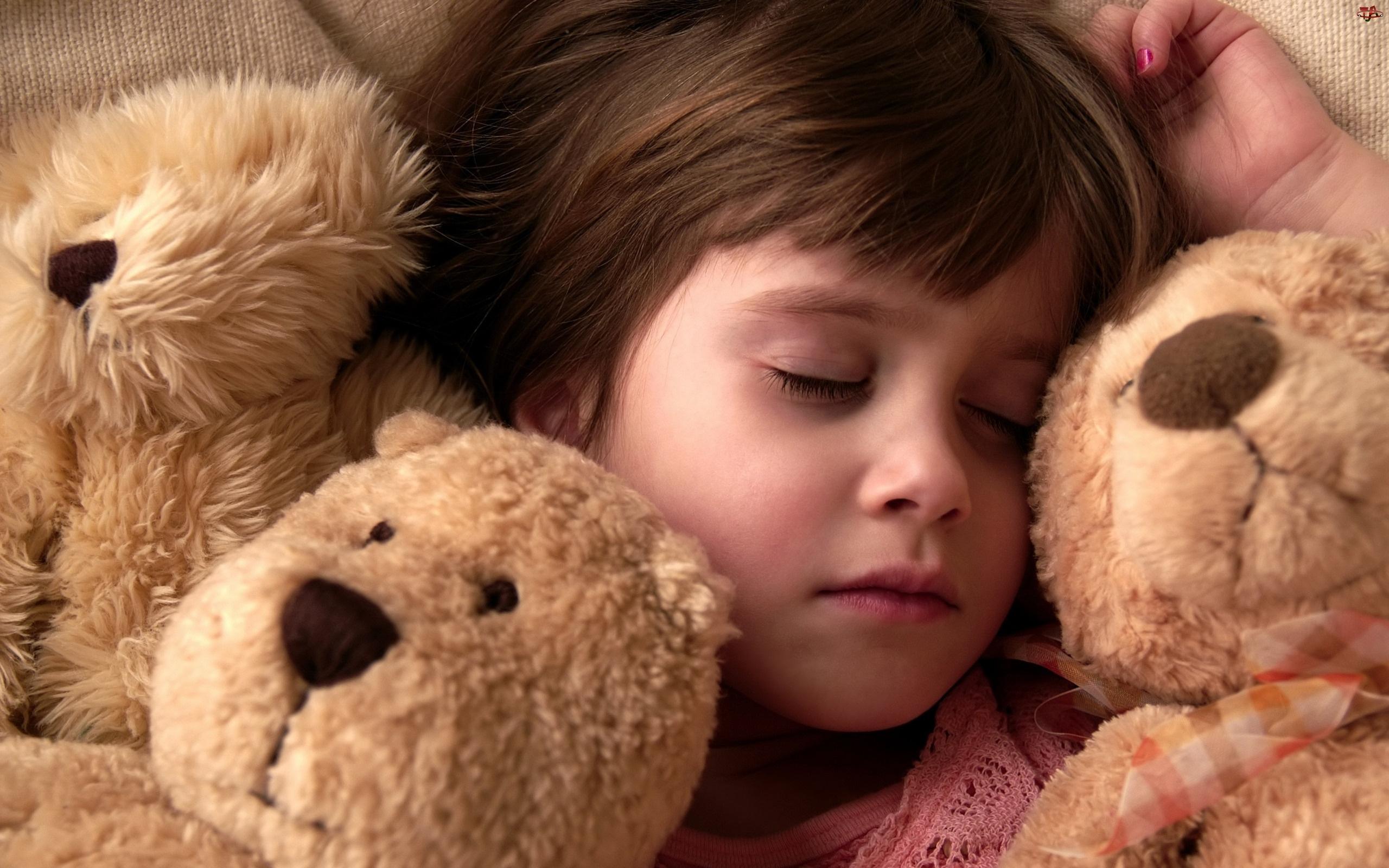 Misie, Śpiąca, Dziewczynka