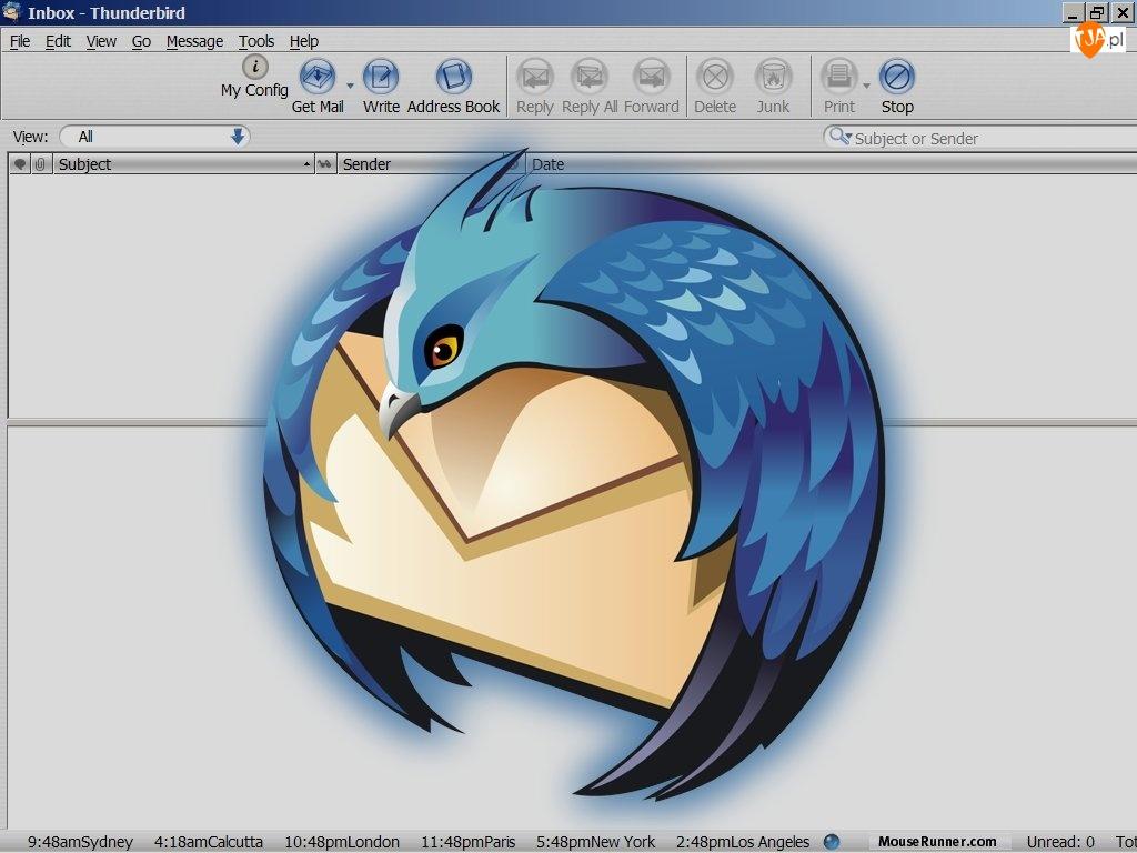 Thunderbird, ptak, koperta, grafika