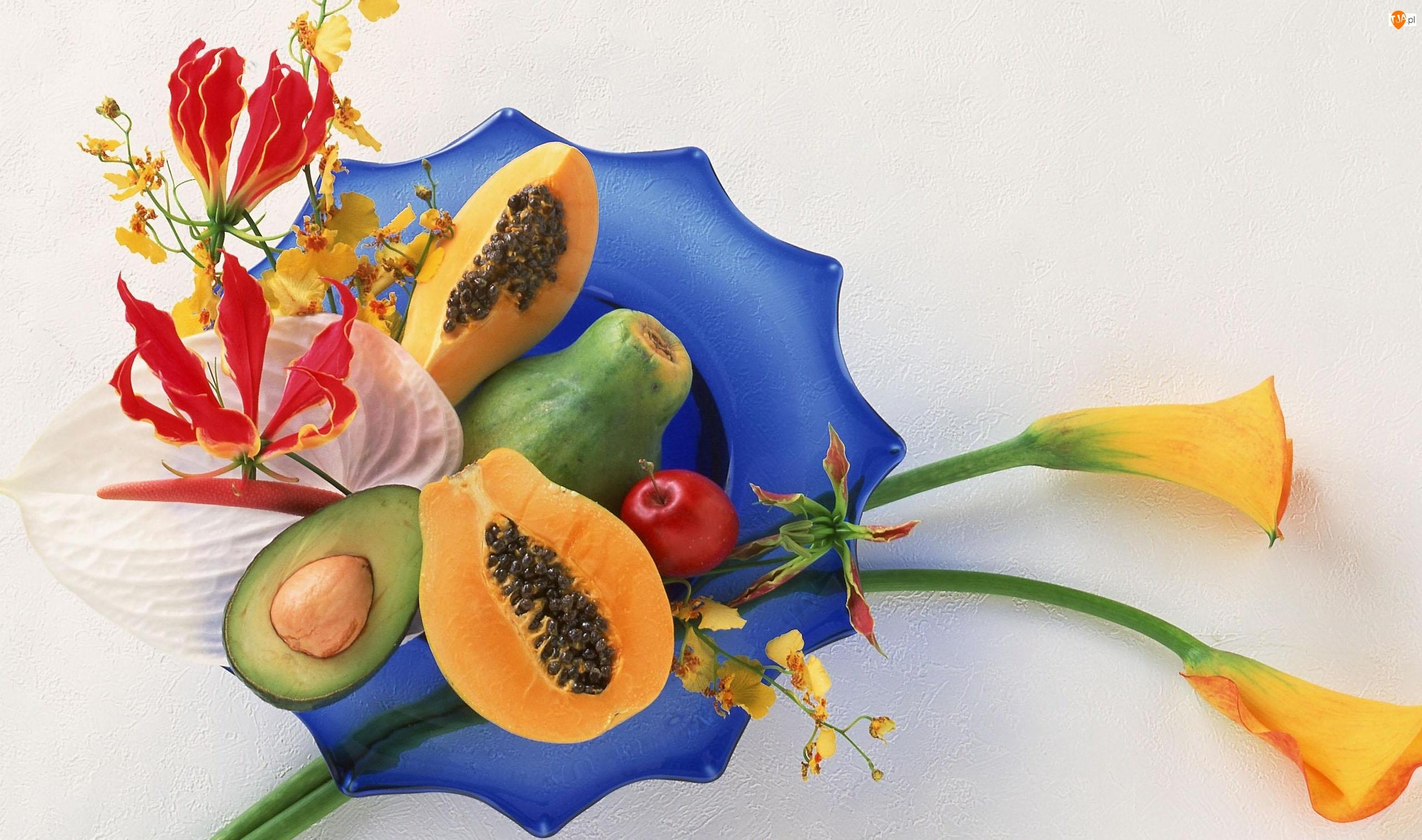 Mango, Owoce, Papaja