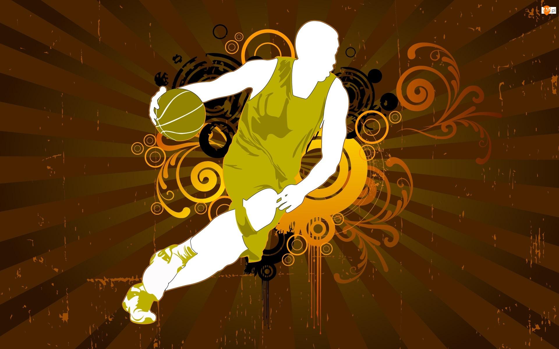 Grafika, Koszykówka, Piłka