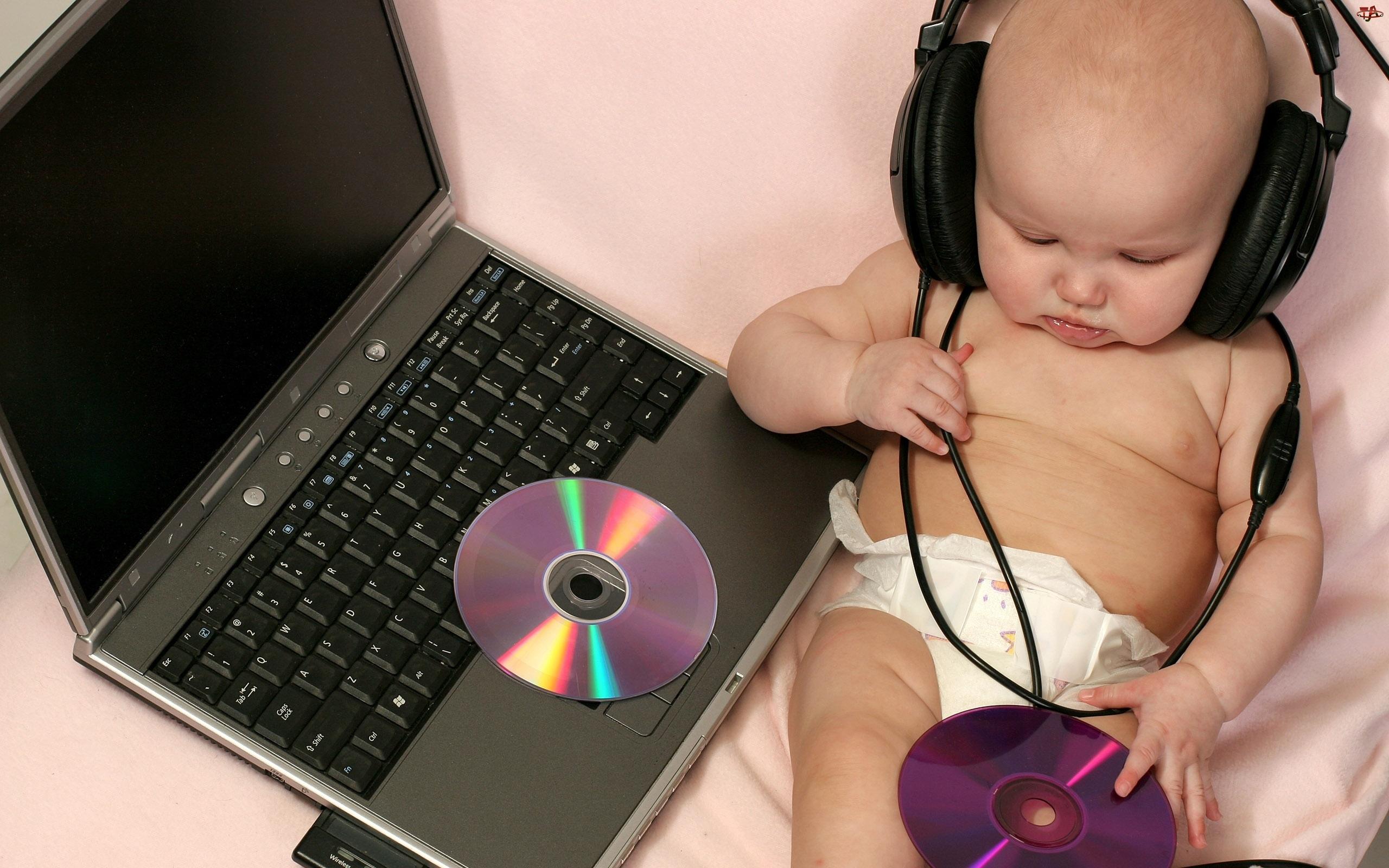 Laptop, Dziecko, DJ