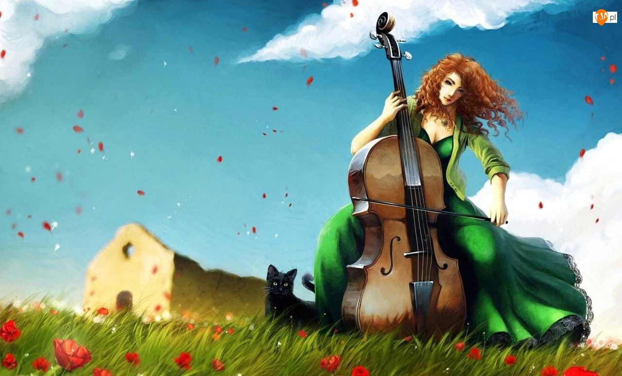 Kot, Kobieta, Wiolonczela