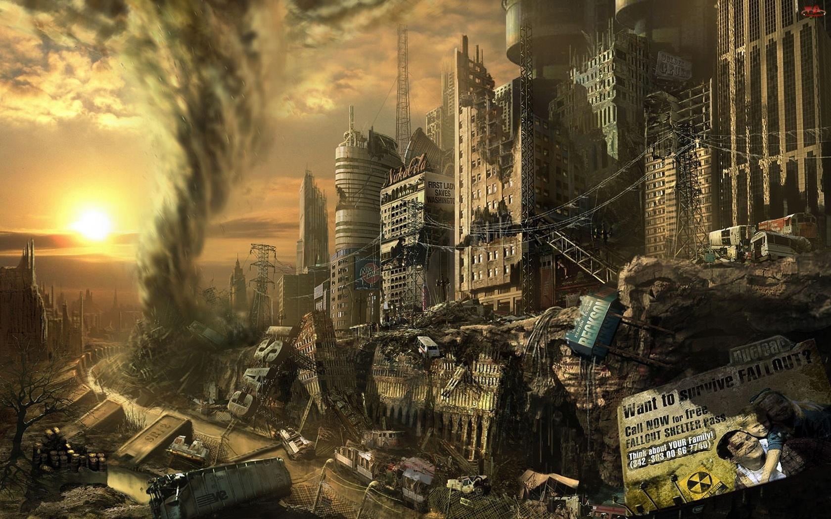 Apokalipsa, Tornado, Budynki