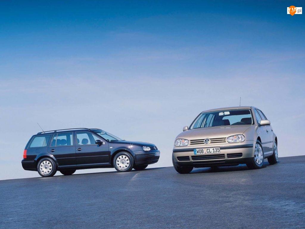 Dwa Volkswageny Golf 4, Kombi