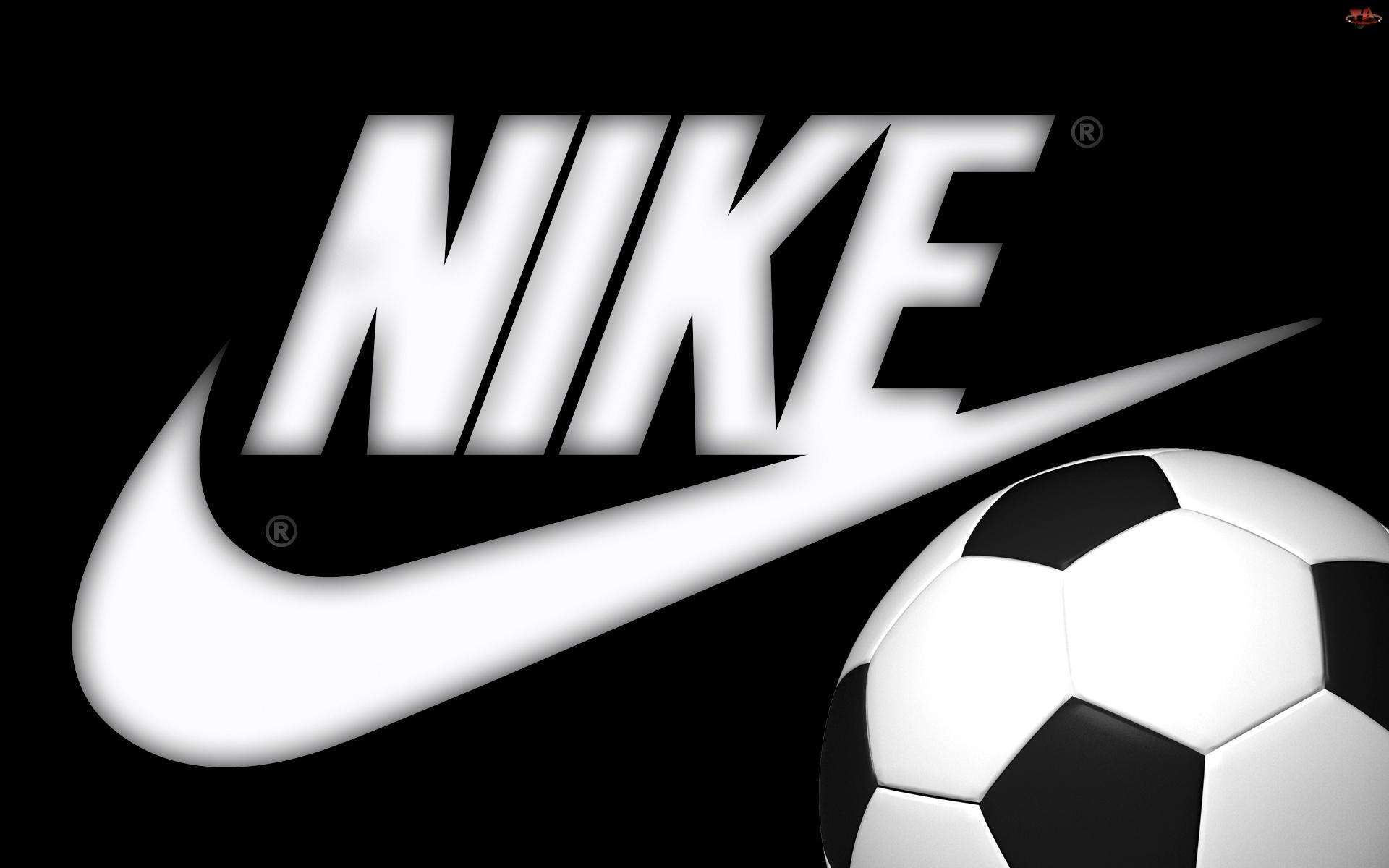 Piłka, Czarne, Logo, Tło, Nike