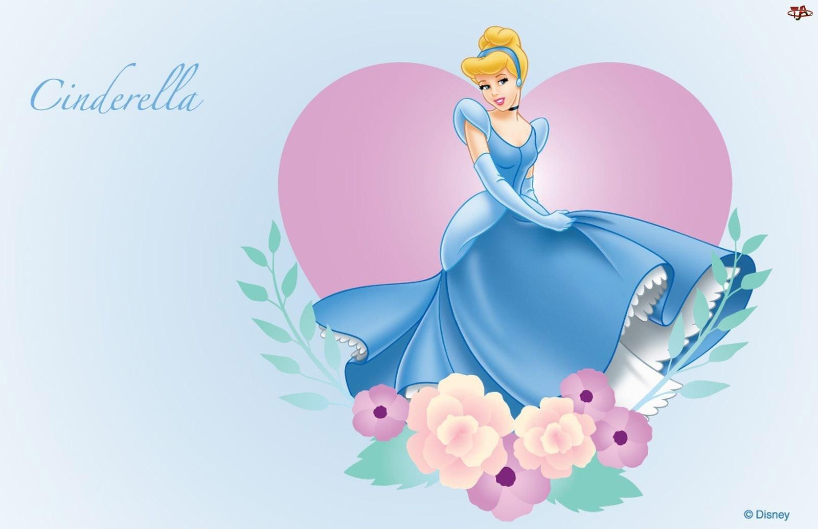 Kwiaty, Kopciuszek, Cinderella, Suknia