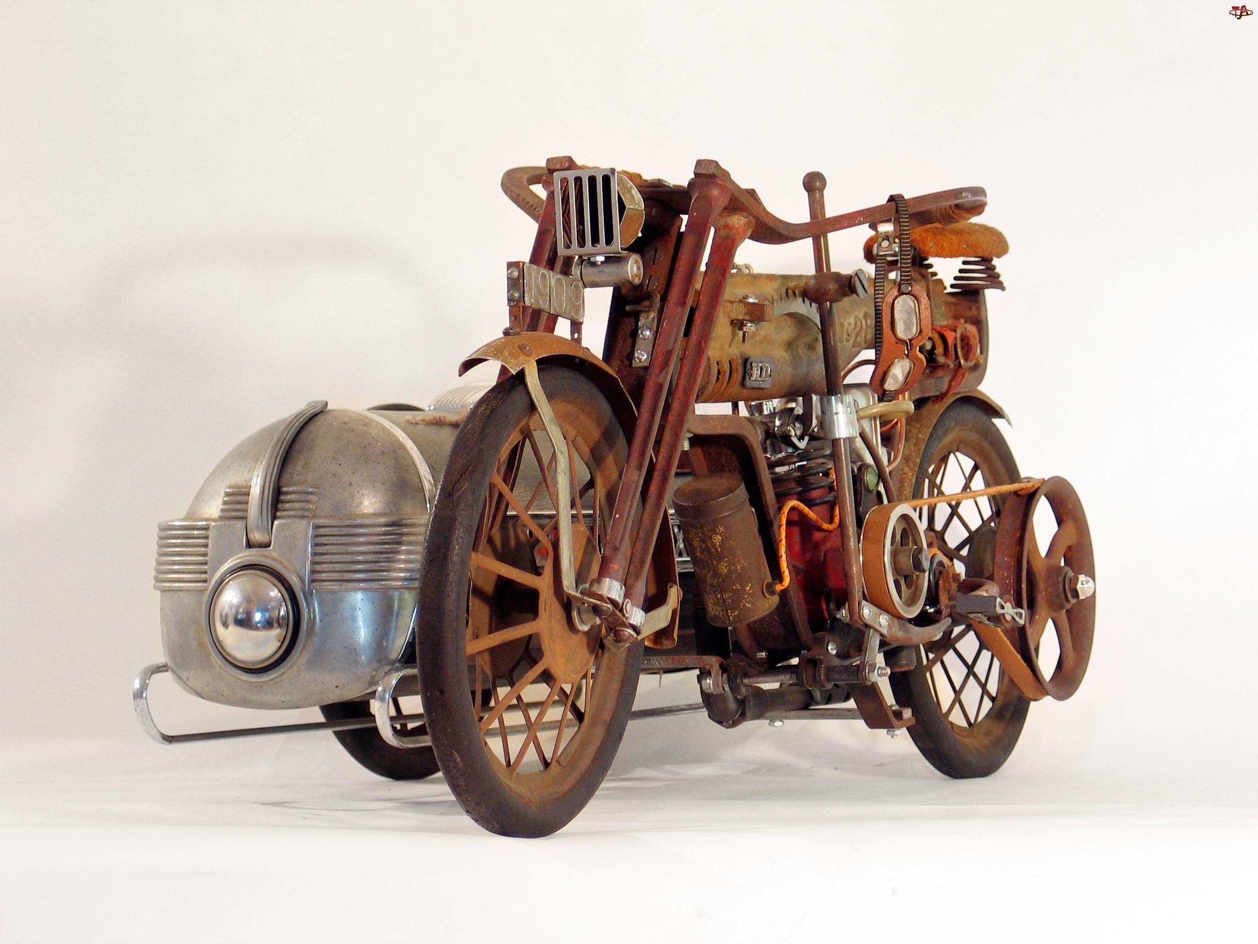 Zabytkowy, 1909, Motor, Harley Davidson