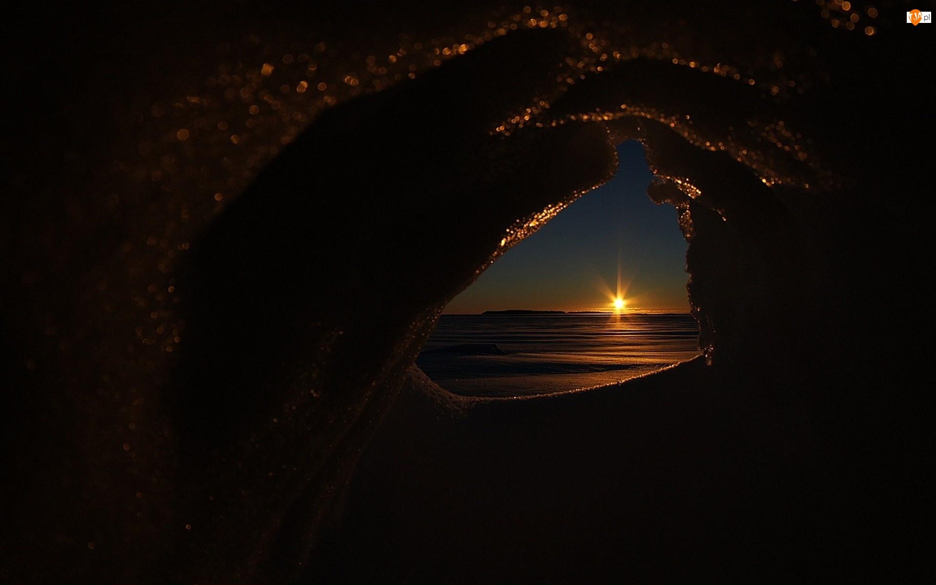Jaskinia, Zachód, Słońca