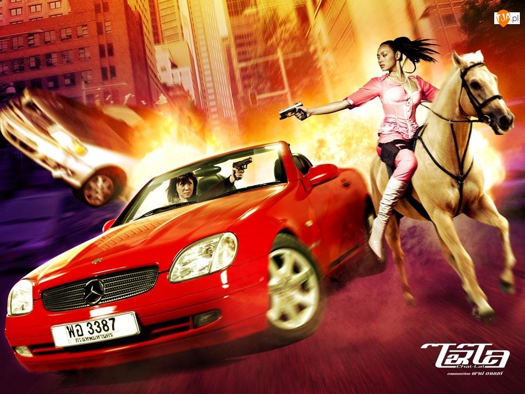 samochód, Chai Lai, koń, miasto