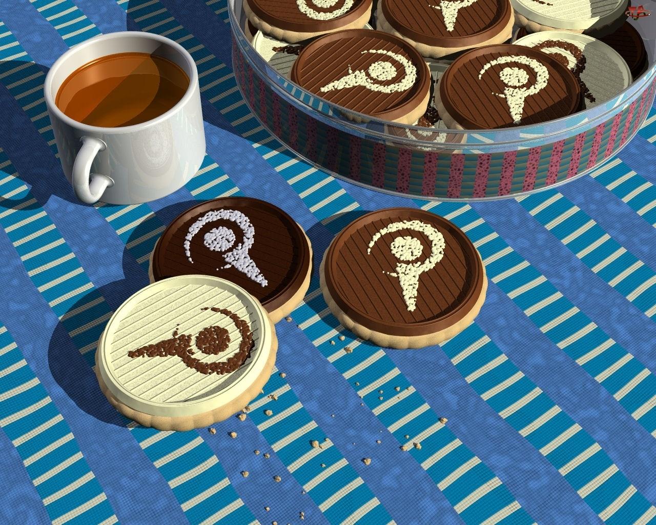 Kawy, Ciasteczka, Filiżanka