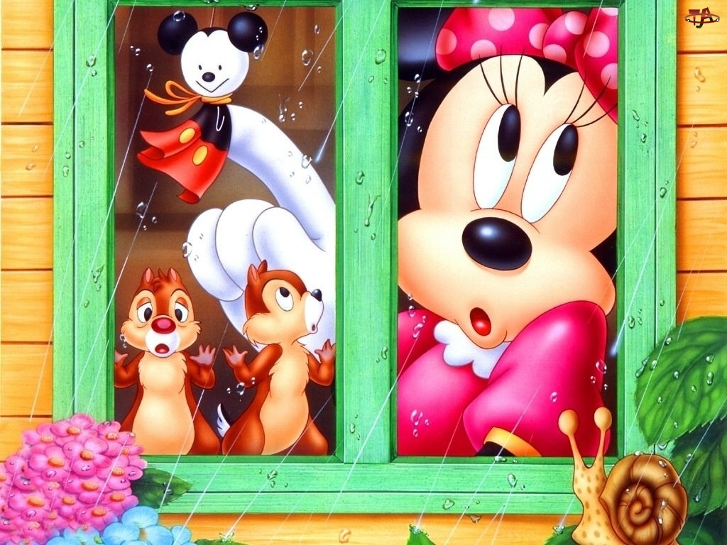 przyjaciele, Myszka Miki, okno