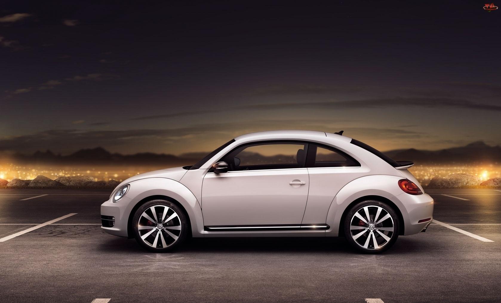 Biały, Volkswagen Beetle