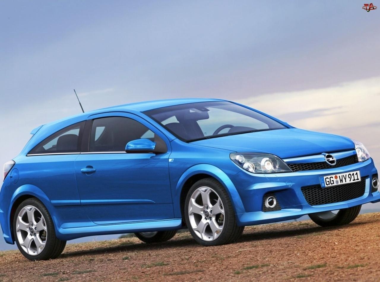 Niebieski, Opel Astra OPC