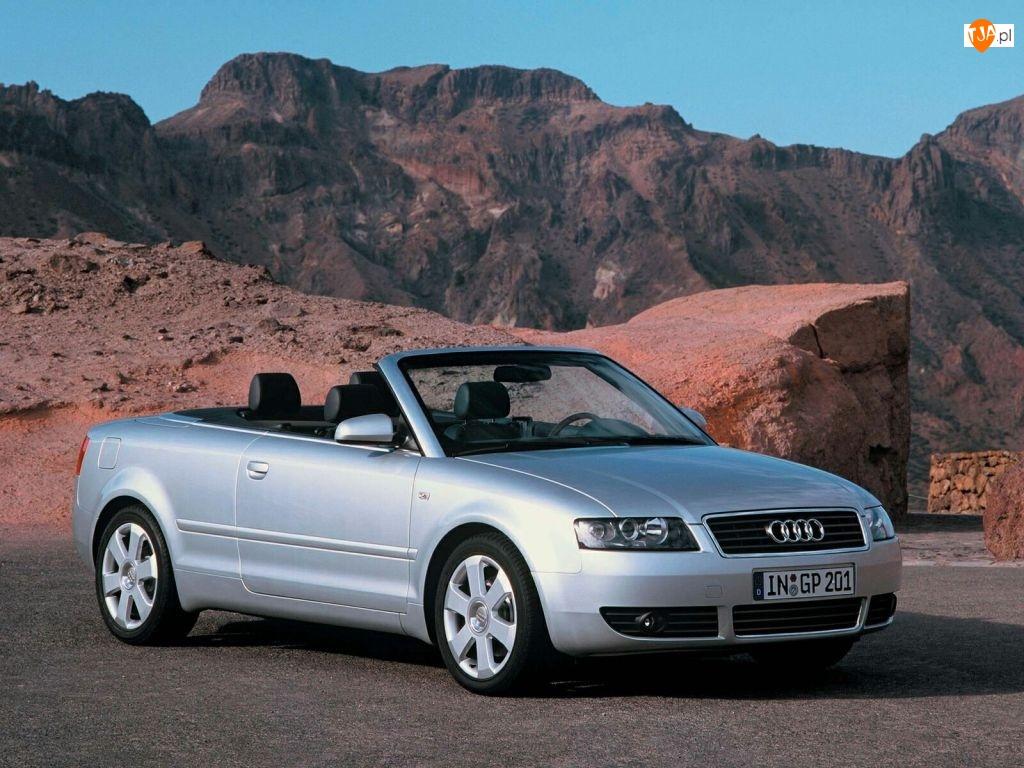 Srebrne, Audi A4, Cabrio