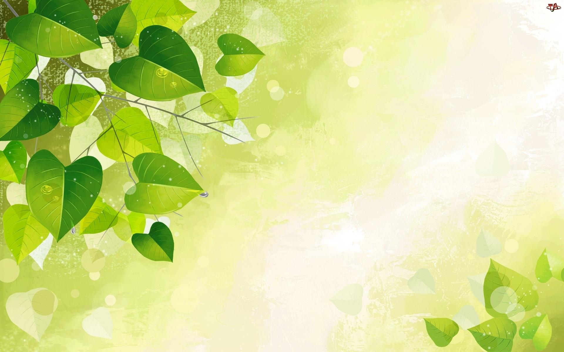 Liście, Zielone, Drobne