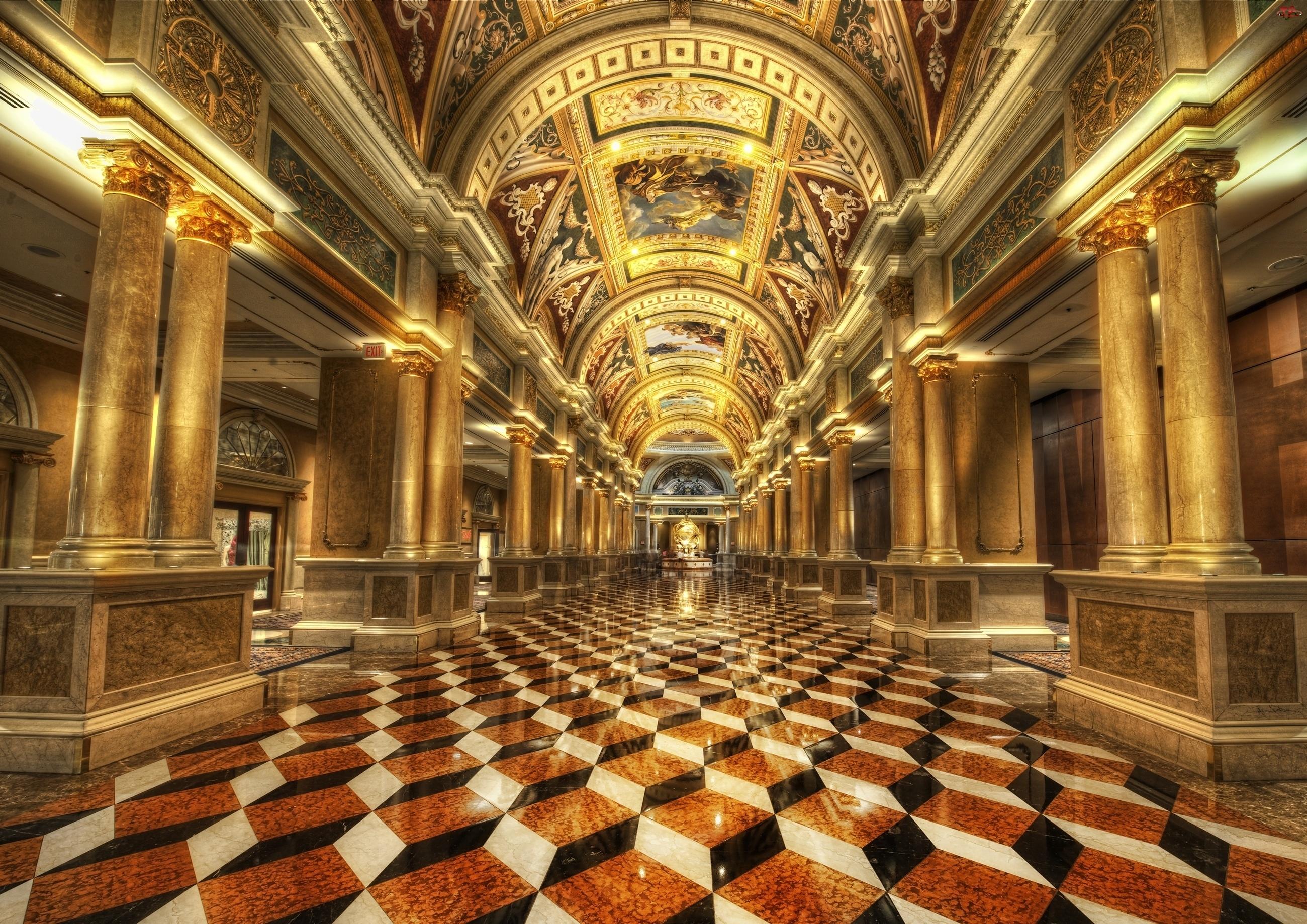 Wnętrze, Las Vegas, Hotelu, Weneckiego