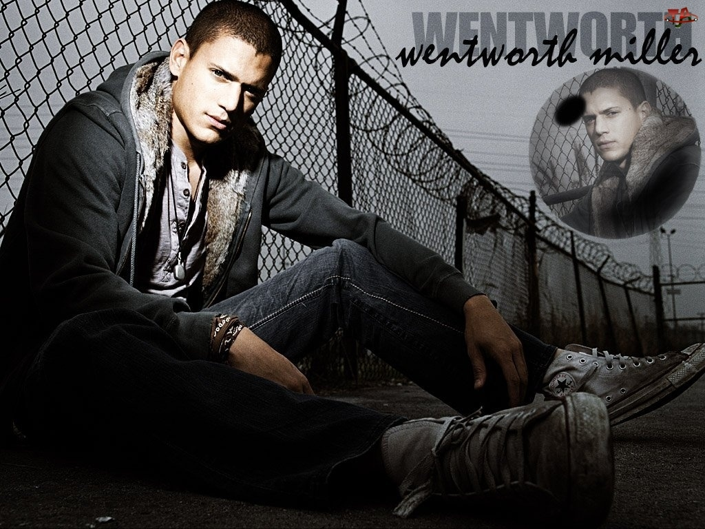 Prison Break, Wentworth Miller, ogrodzenie, adidasy