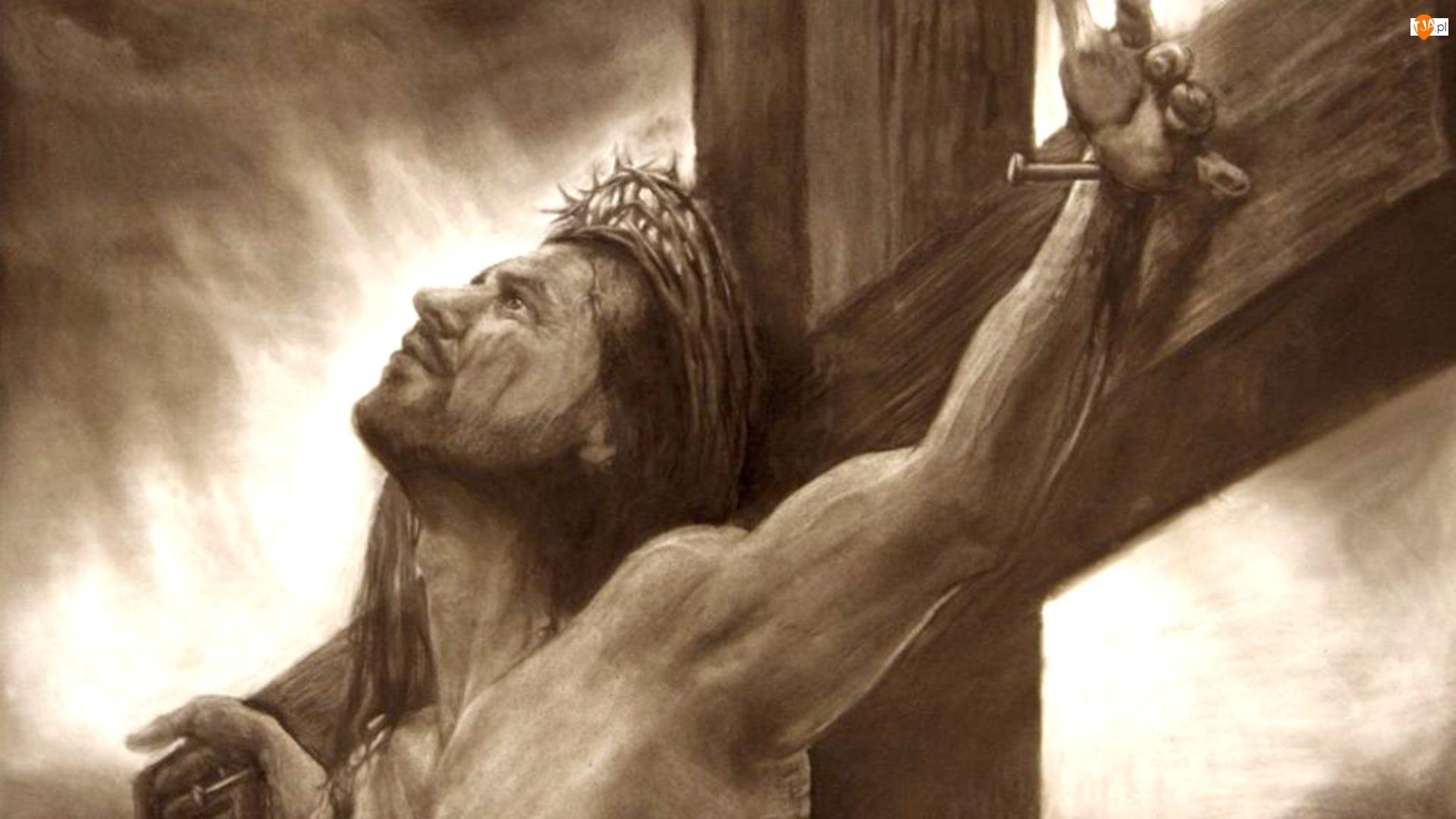 Krzyżu, Jezus, Na