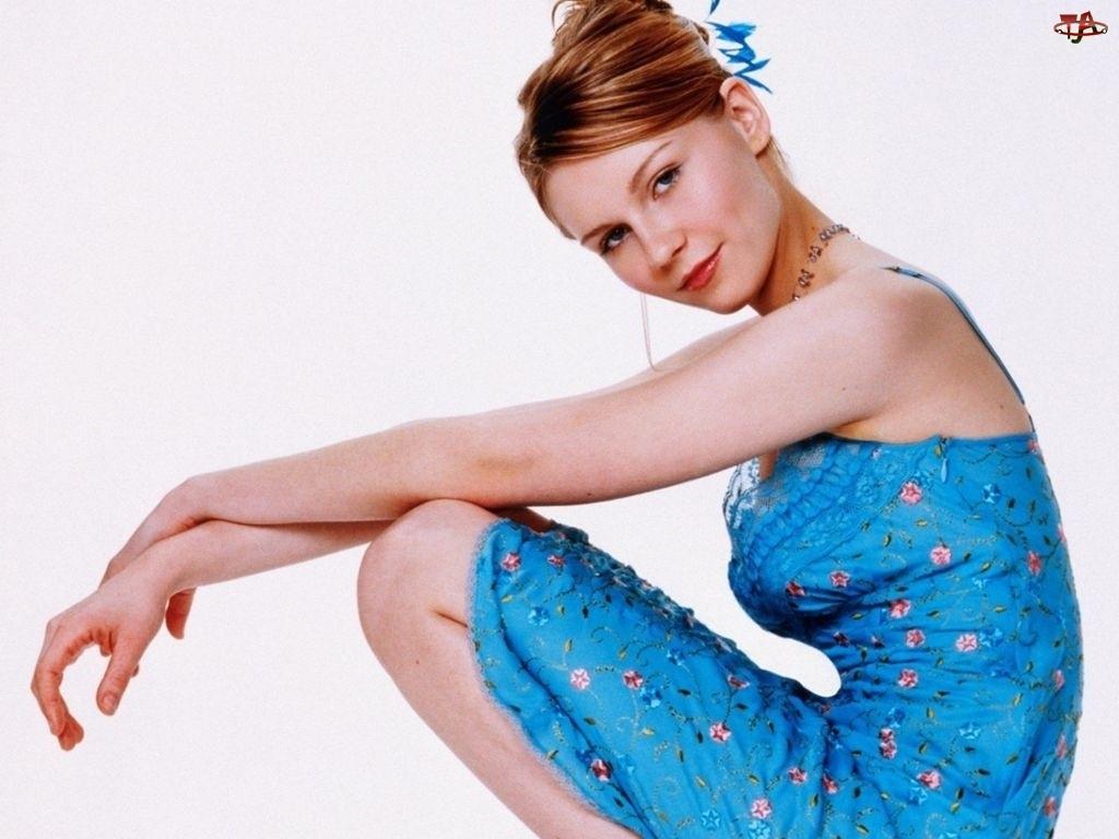 Kirsten Dunst, niebieska Sukienka