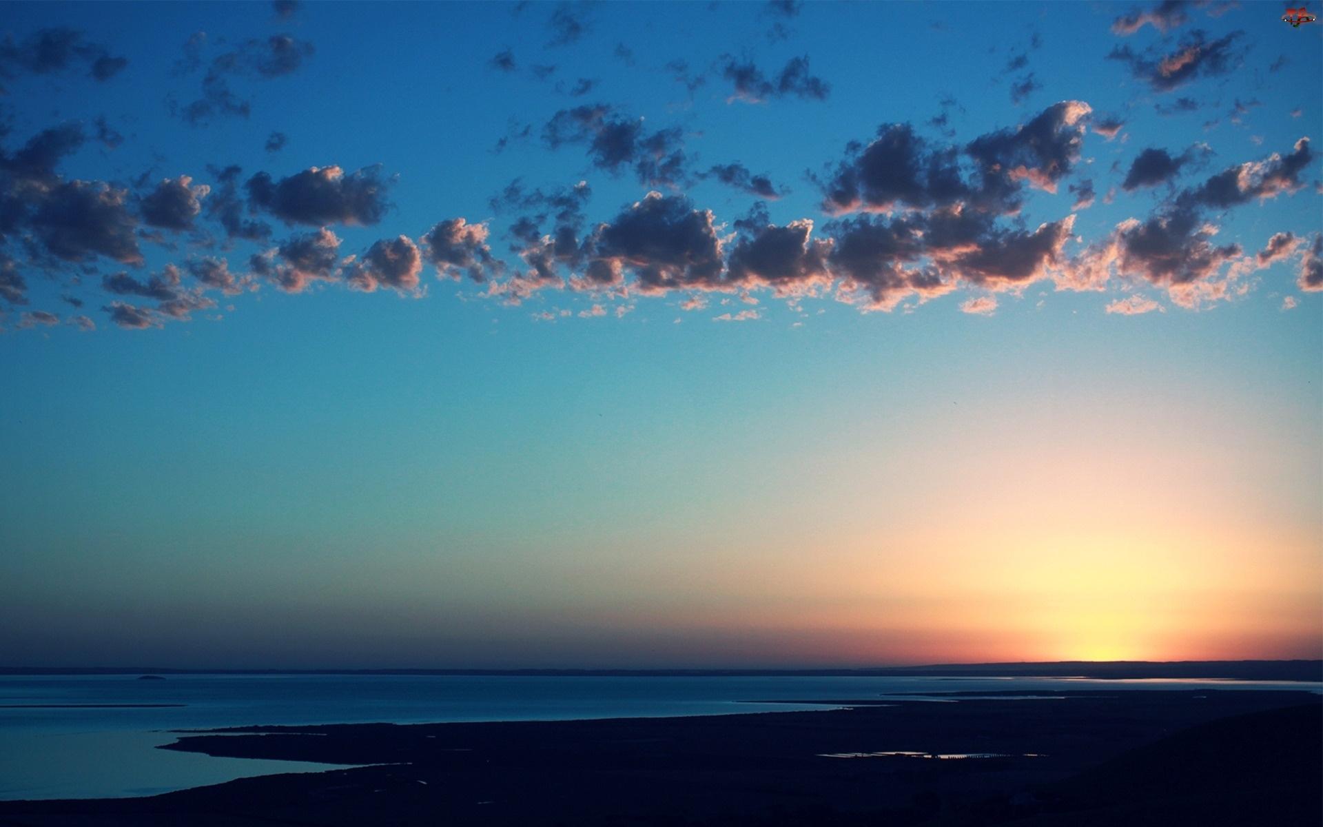 Chmury, Wybrzeże, Morze