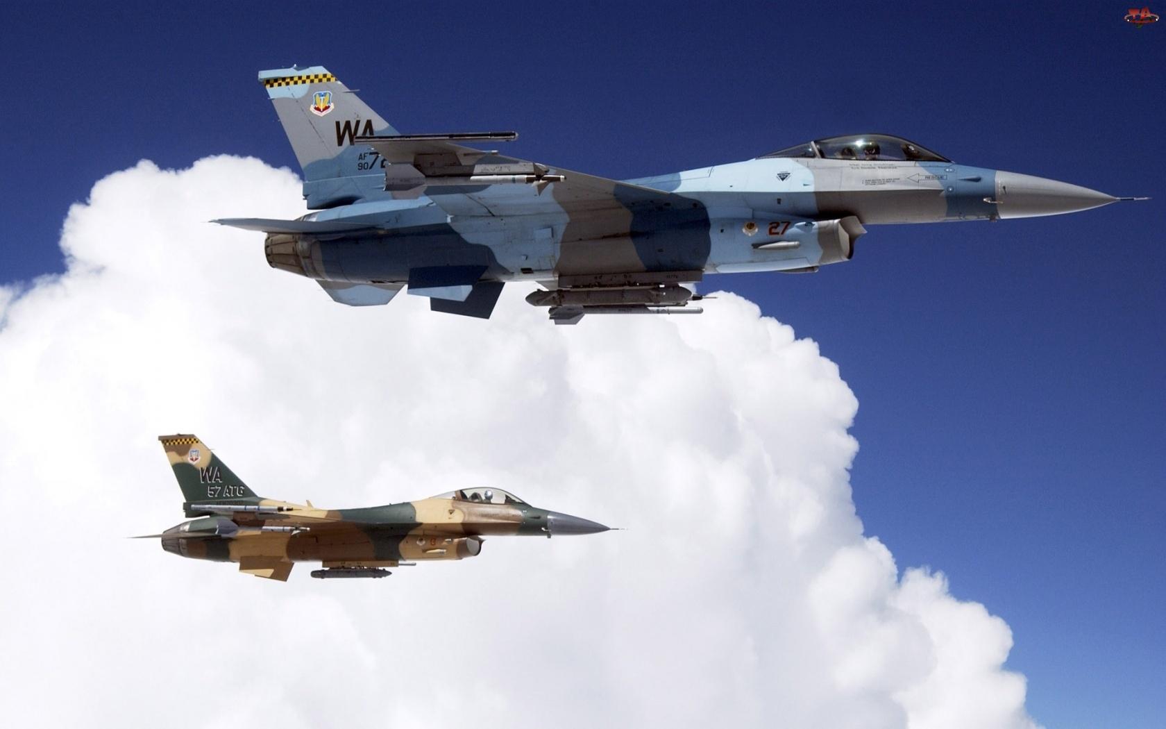 Dwa, F 16, Samoloty, Odrzutowe