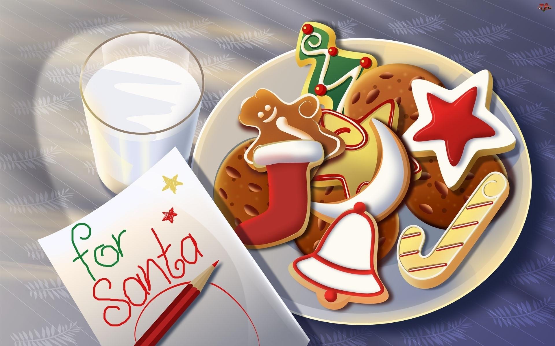 Świąteczne, Mleka, Pierniczki, Szklanka