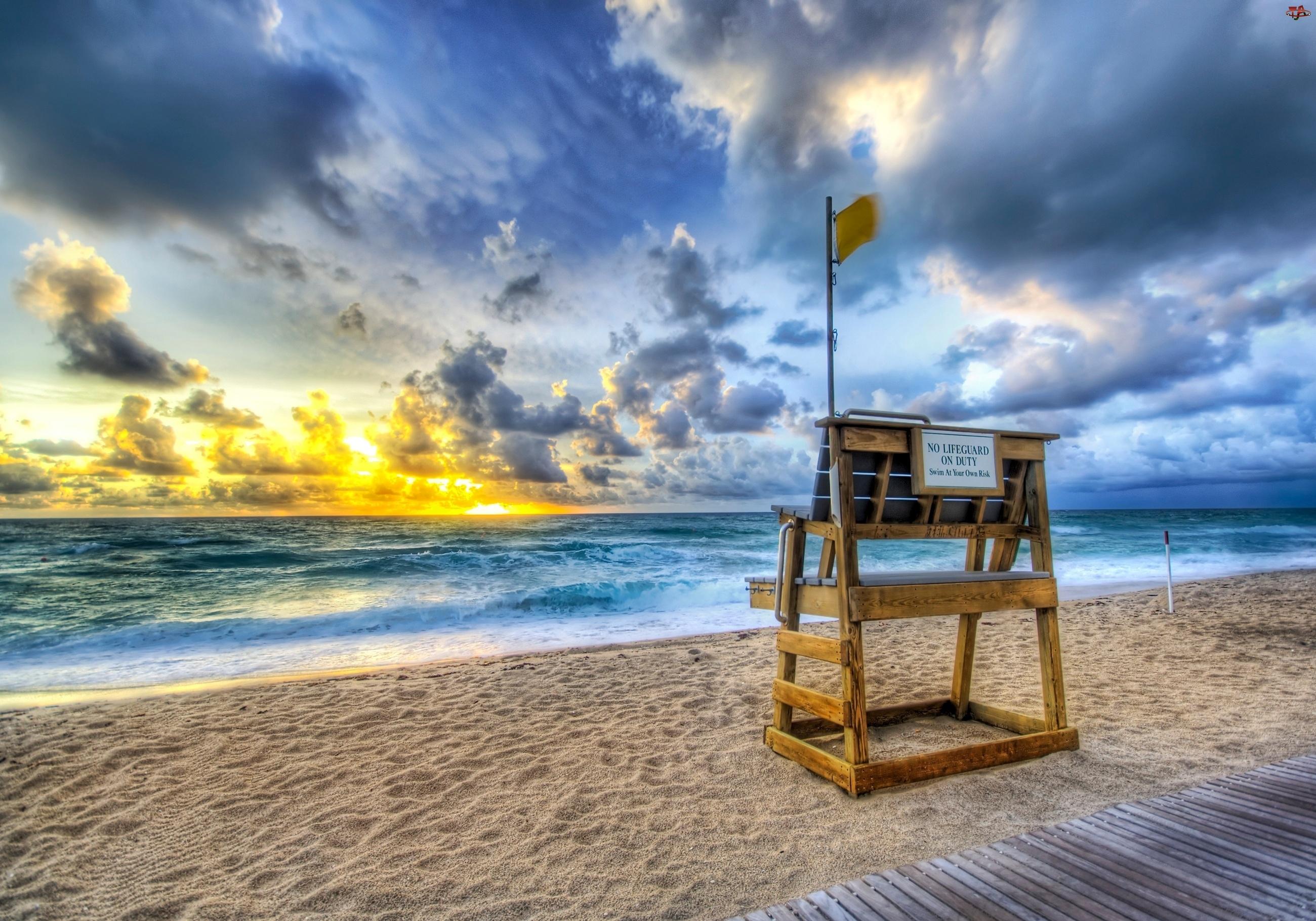 USA, Plaża, Palm Beach, Ocean, Floryda