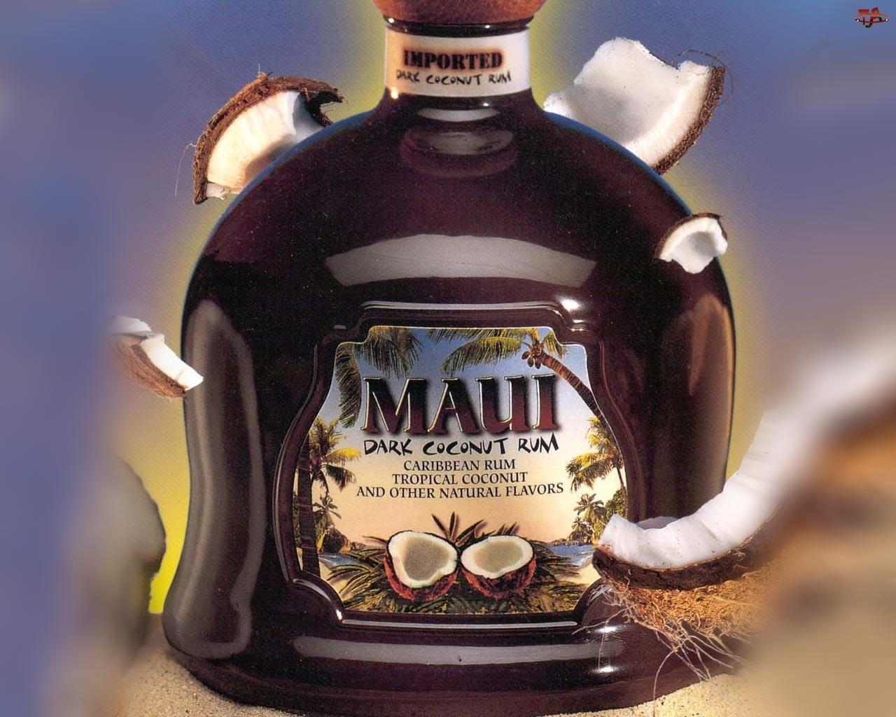 Maui, Rum, Dark, Kokosowy